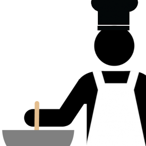 Picture of a chef stirring a bowl